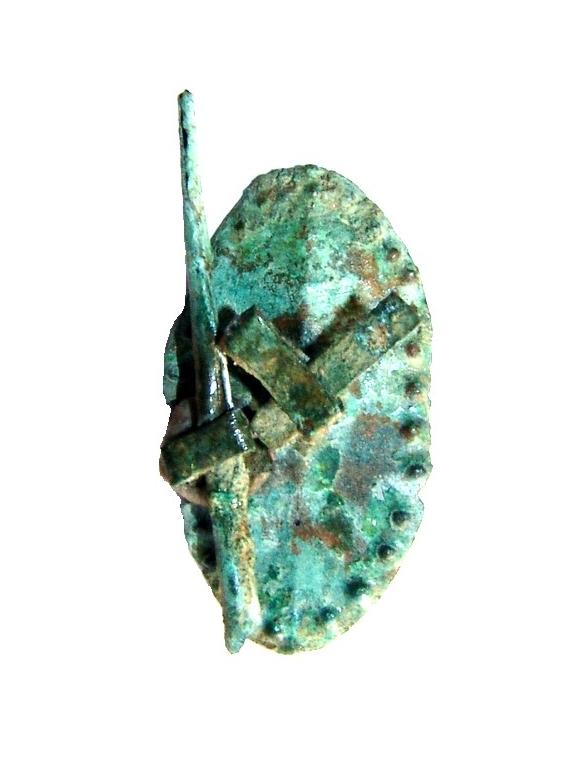 Lancia e scudo miniaturistico del VII - V secolo a.C.
